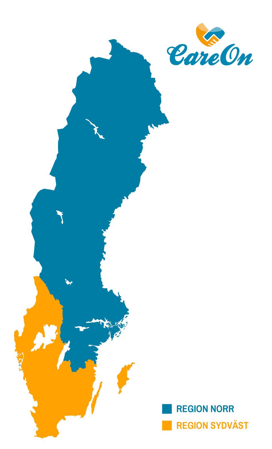 CareOn Regionkarta